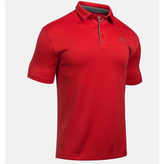 8914a51c1ce Camisa Polo Under Armour Tech Masculina - Vermelho+Cinza
