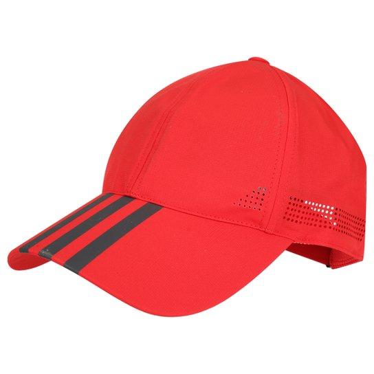 9362d3b712a17 Boné Adidas Climacool 3S - Vermelho+Cinza