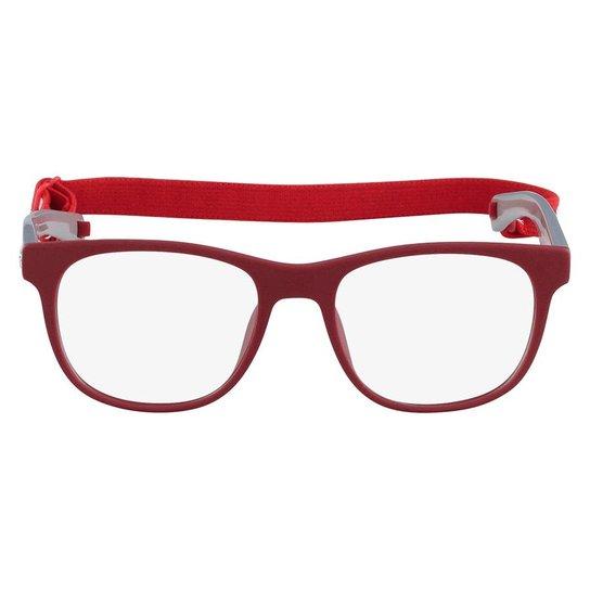 9f910b517d4b3 Armação Óculos de Grau Lacoste L3621 001 47 - Vermelho e Cinza ...