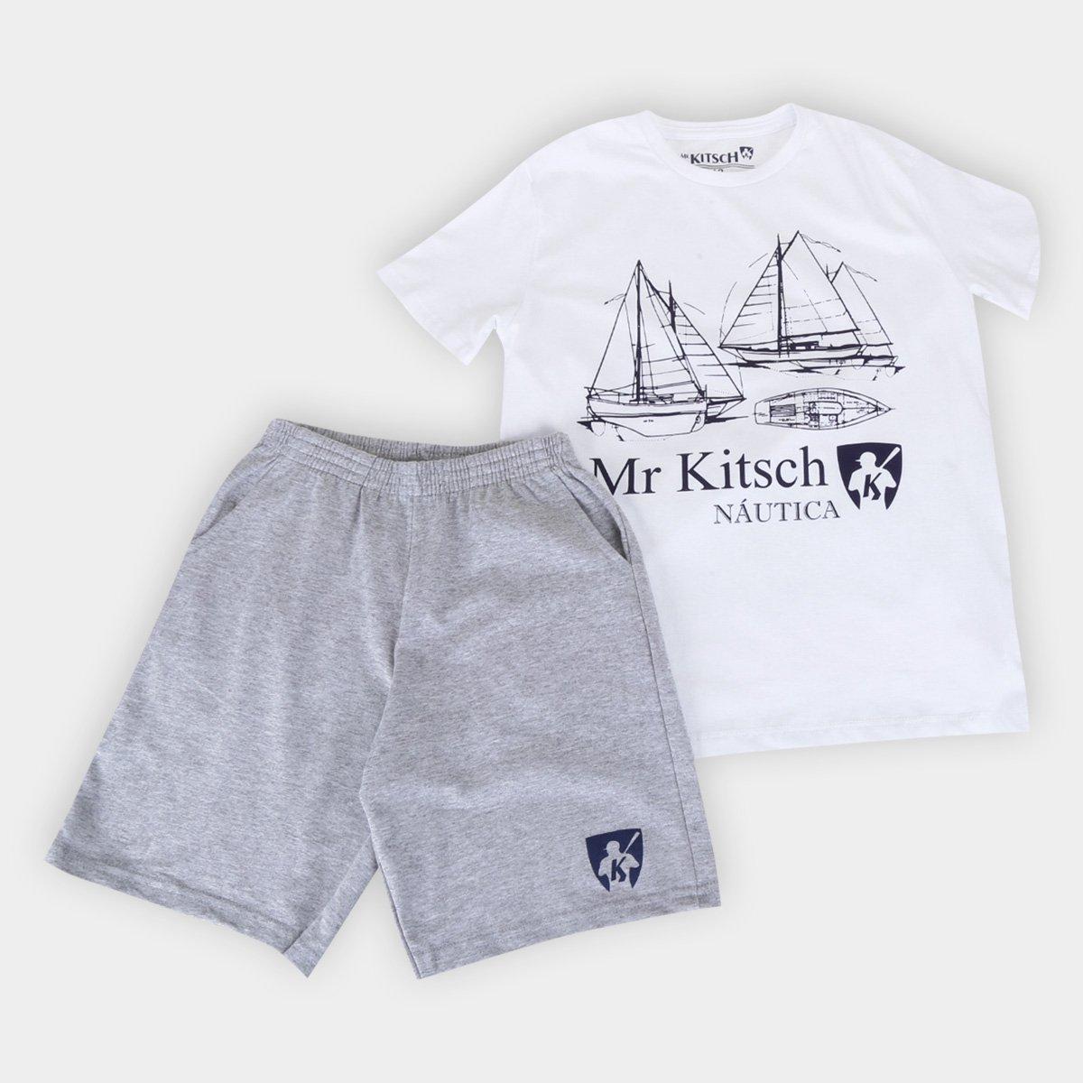 Conjunto Juvenil MR. Kitsch Náutica Camiseta + Short Masculino