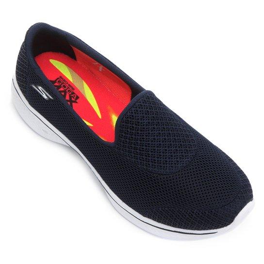 2c2b631724d Sapatilha Skechers Go Walk 4 Feminina - Azul e Branco - Compre Agora ...