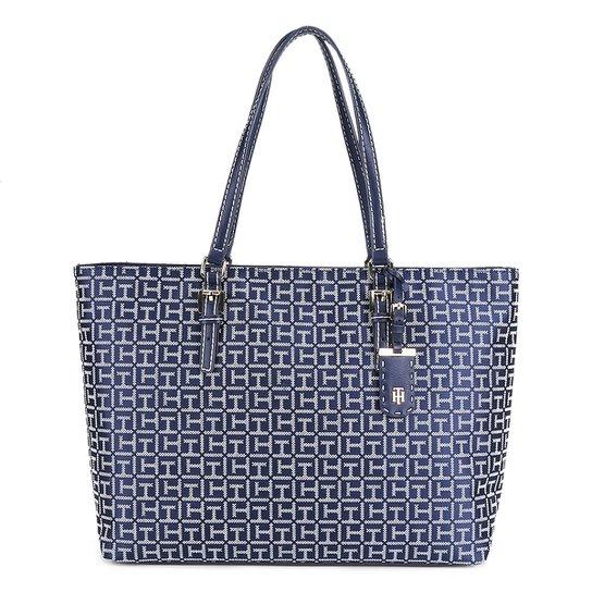 6cfa180e699b Bolsa Tommy Hilfiger Shopper Jacq Julia Feminina - Azul+Branco