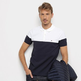 ce1d2f08e7 Camisa Polo Tommy Hilfiger Pieced Colorblock Masculina