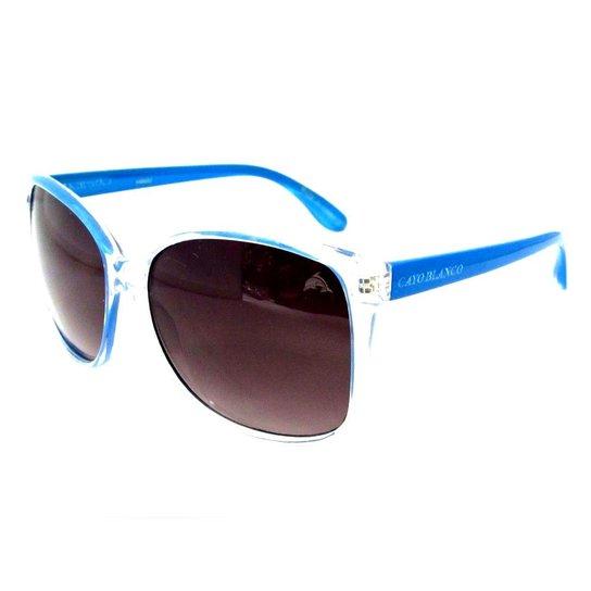 Óculos Cayo Blanco Modelo Quadrado - Azul e Branco - Compre Agora ... 824b304d1f