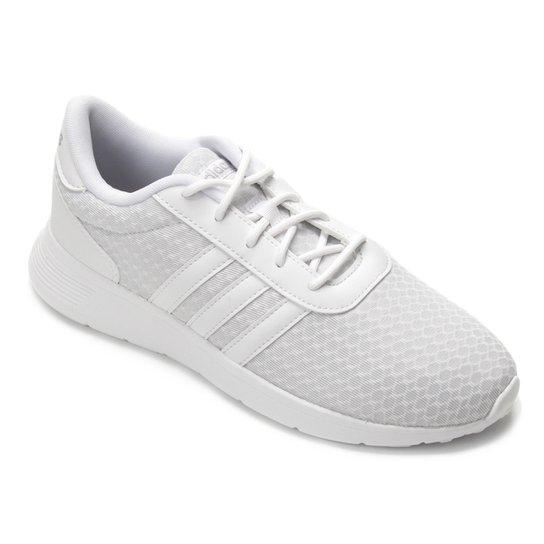 cd3394e4fa ... Tênis Adidas Lite Racer W Feminino - Branco e Cinza - Compre Agora .