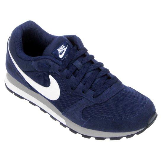 7be642bfef Tênis Nike Md Runner 2 Masculino - Marinho e Branco - Compre Agora ...