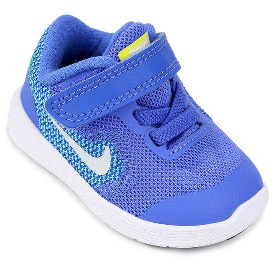 8a6ffa553d5 Tênis Infantil Nike Revolution 3 - Azul e Branco - Compre Agora ...