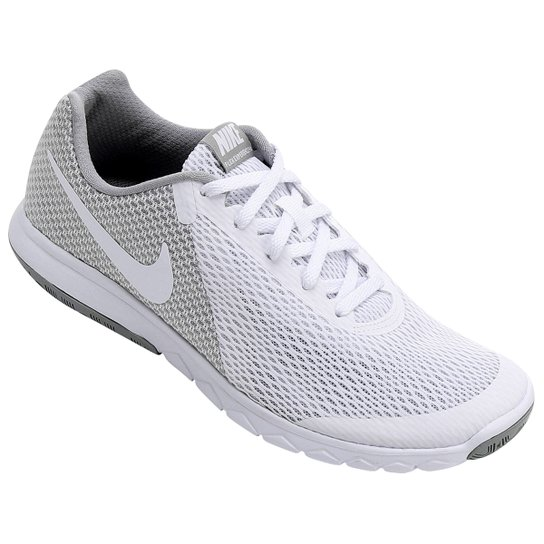 Tênis Nike Flex Experience Rn 6 Feminino - Branco e Cinza - Compre ... 50f40f7033aa7