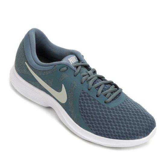 7fd2dcfd3 Tênis Nike Wmns Revolution 4 Feminino - Azul e Branco - Compre Agora ...