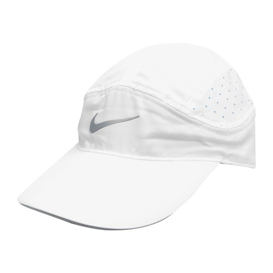 Boné Nike Aba Curva Arobill TW Elite - Branco e Cinza - Compre Agora ... 007f5b1596d
