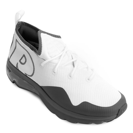 ... Agora Netshoes f0b205b437ebab  Tênis Nike Air Max Flair 50 Masculino -  Branco e Cinza - Compre . 528ca2926f918