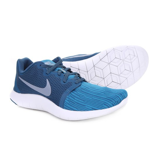 4d5914928a4fd Tênis Nike Flex Contact 2 Masculino - Azul e Branco - Compre Agora ...
