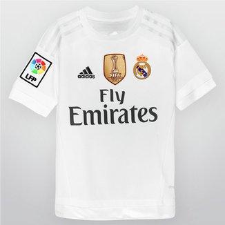 Camisa Adidas Real Madrid Home 15 16 s nº Infantil cf616e0da7d
