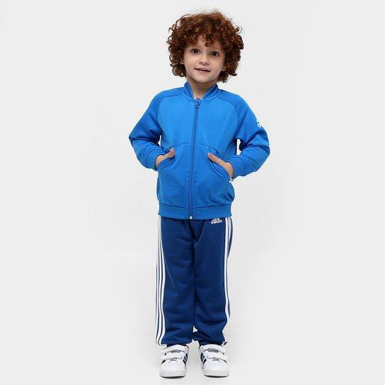 127647d2b5f Agasalho Adidas I Sp Shiny Ts Infantil - Compre Agora