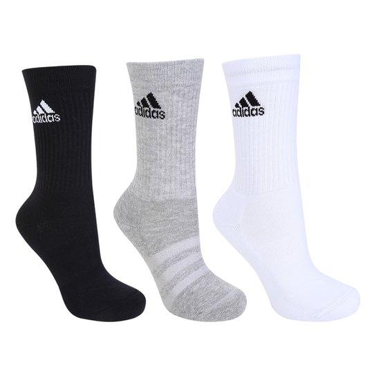 ... Pacote Meia Adidas Cushion 3S Cano Alto com 3 Pares - Compre Agora . 48947e7ce3227