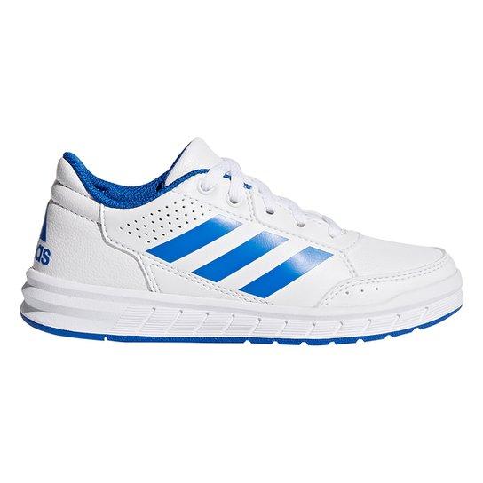 2bfd6411875 Tênis Infantil Adidas Altasport K - Branco e Azul - Compre Agora ...