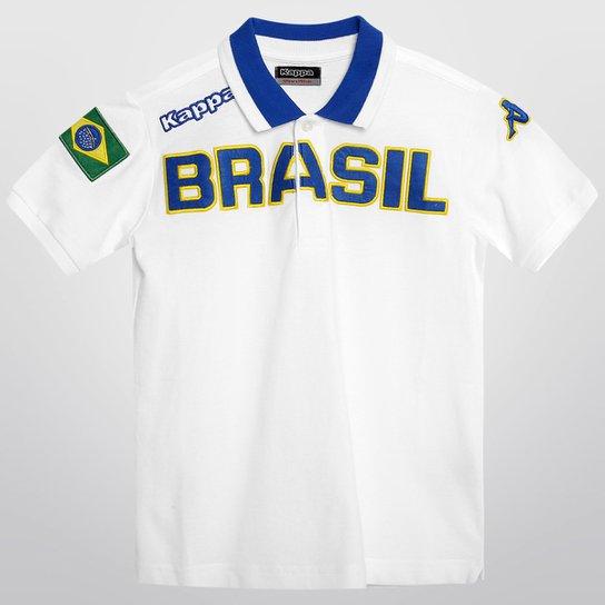 2481a87dee Camisa Polo Kappa Eroi Brasil Infantil - Compre Agora