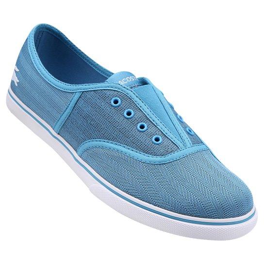 3d87bbb6528 Tênis Lacoste Rene Sleek Slip Hpc - Azul Piscina e Branco - Compre ...