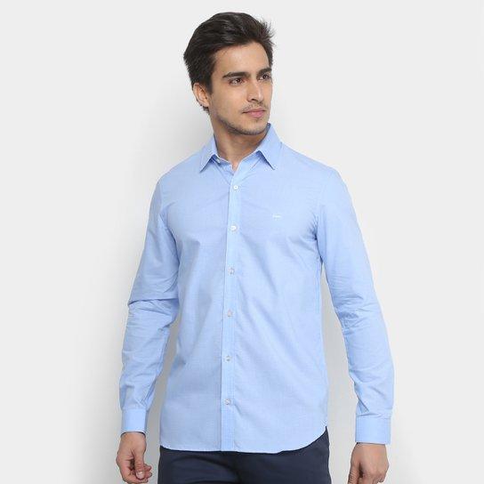 dd13b2087 Camisa Lacoste Manga Longa Masculina - Azul e Branco - Compre Agora ...