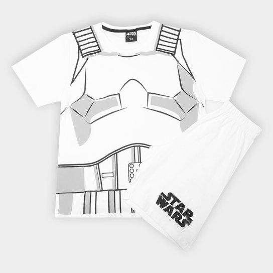 b9186c08ab469 Pijama Infantil Lupo Curto Star Wars Stormtrooper Masculino - Branco+Cinza
