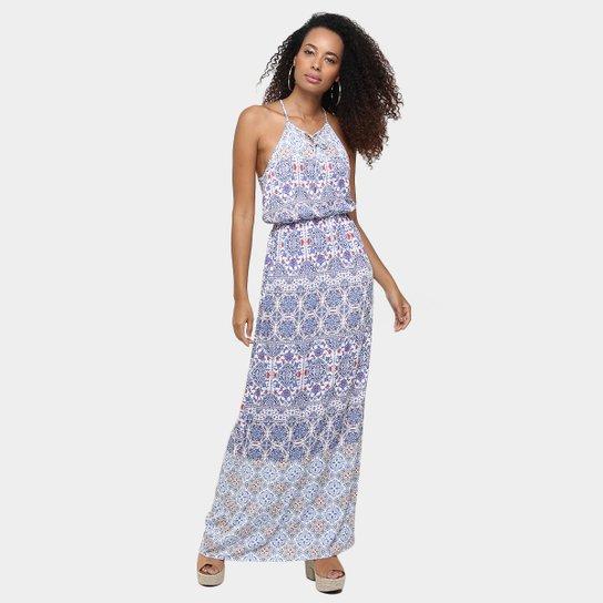 652b033dd Vestido Colcci Longo Estampado Amarração Colo - Compre Agora | Zattini