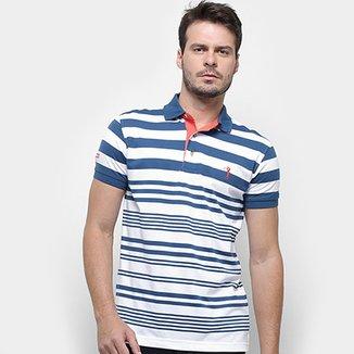 155b8342c2 Camisa Polo Aleatory Listrada Masculina