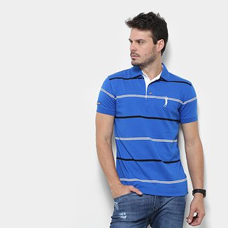 777237d15e1 Camisa Polo Aleatory Listrada Fio Tinto Masculina