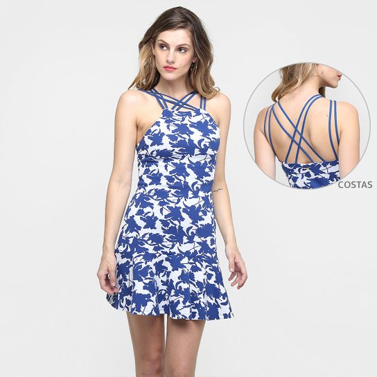 68401c875 Vestido Sommer Estampado Tiras Costas - Compre Agora | Zattini