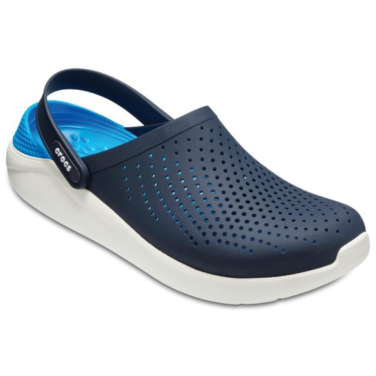 9fb7df838 Crocs LiteRide Clog - Azul e Branco - Compre Agora