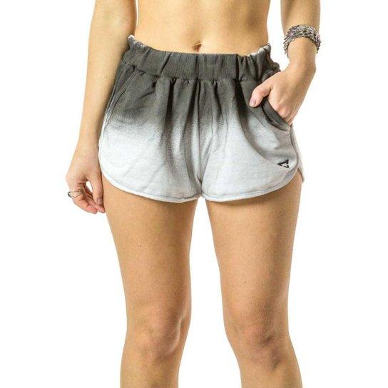 Short Moletom Brohood Boxer Feminino - Branco e Cinza - Compre Agora ... 53ba683fd6eae
