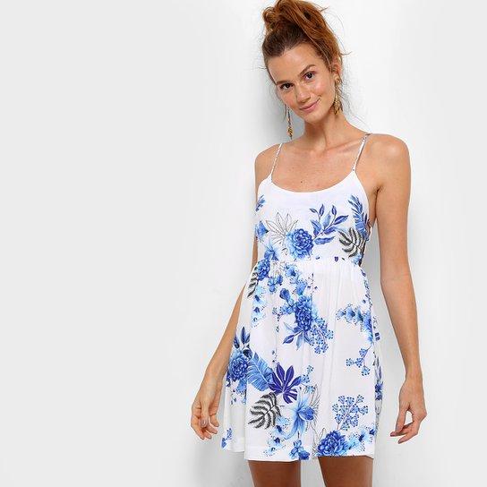 33ce92ac3 Vestido Farm Evasê Curto Floral Tiras - Compre Agora