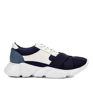 ce6d1a7412f Tênis Couro Shoestock Chunky Sneaker Neoprene Feminino