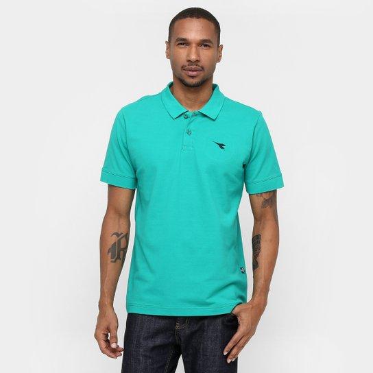 01818089968 Camisa Polo Diadora Basic - Verde água