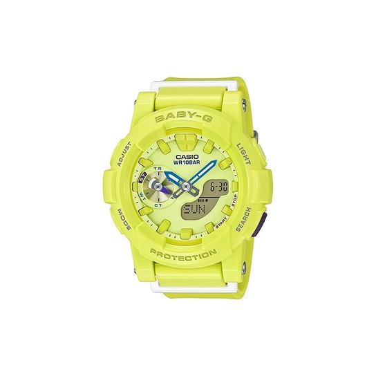 aa93ef72e3b Relógio Casio Baby-G BGA-185-9ADR - Verde - Compre Agora