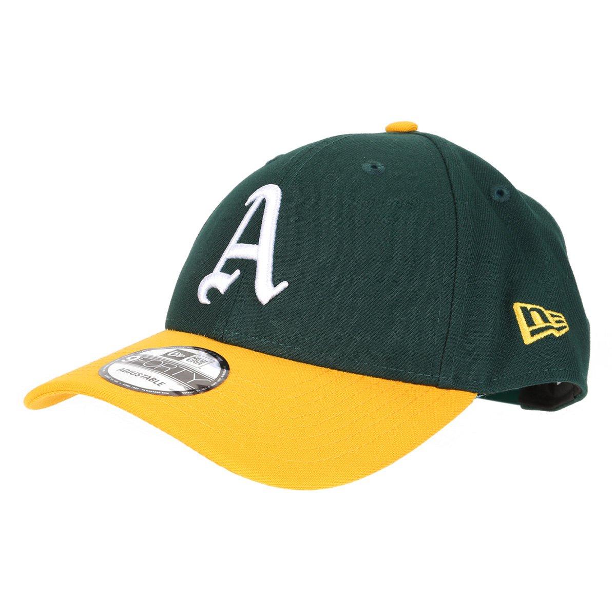 Boné New Era MLB Oakland Athletics Aba Curva Snapback Team 9Fifty