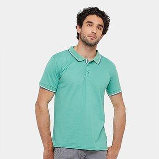 Camisa Polo Blue Bay Piquet Frisos Masculina 9de9dbfcf20ce