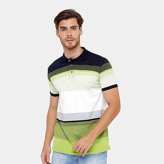 a7aea09e04a Camisa Polo Blue Bay Piquet Listras Masculina