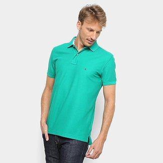 dfd899bb36f Camisa Polo Tommy Hilfiger Detalhe Bordado Regular Masculina