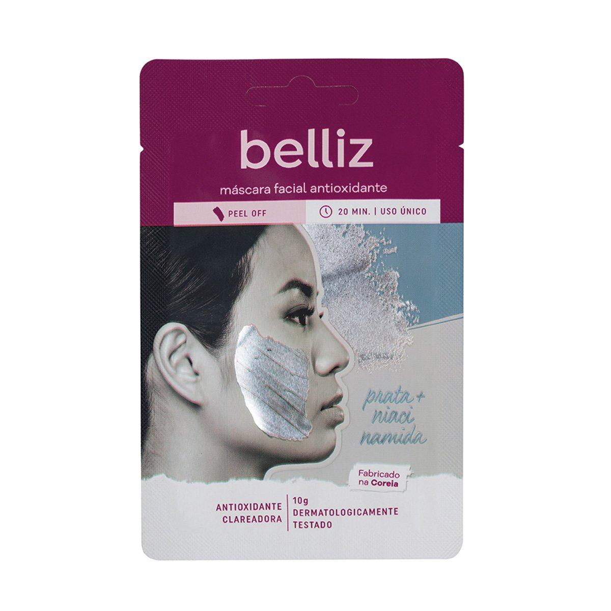Máscara Facial Belliz Antioxidante com Prata