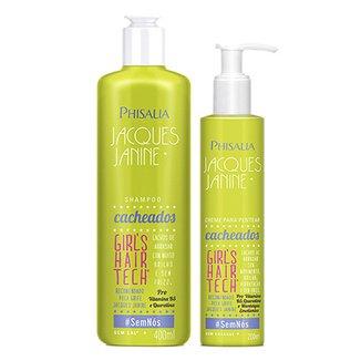 bb225bd7b Kit Shampoo Phisalia Jacques Janine Cabelos Cacheados 400ml + Creme de  Pentear Phisalia 200ml