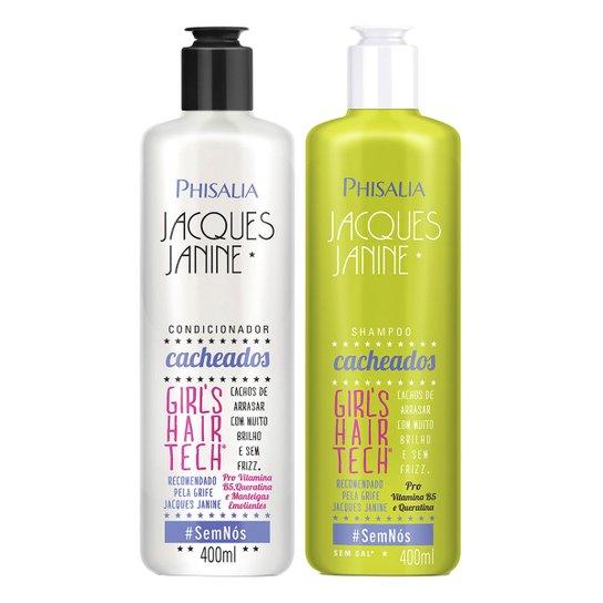 bf9d35582 Kit Shampoo Phisalia Jacques Janine Cabelos Cacheados 400ml + Condicionador  400ml - Incolor