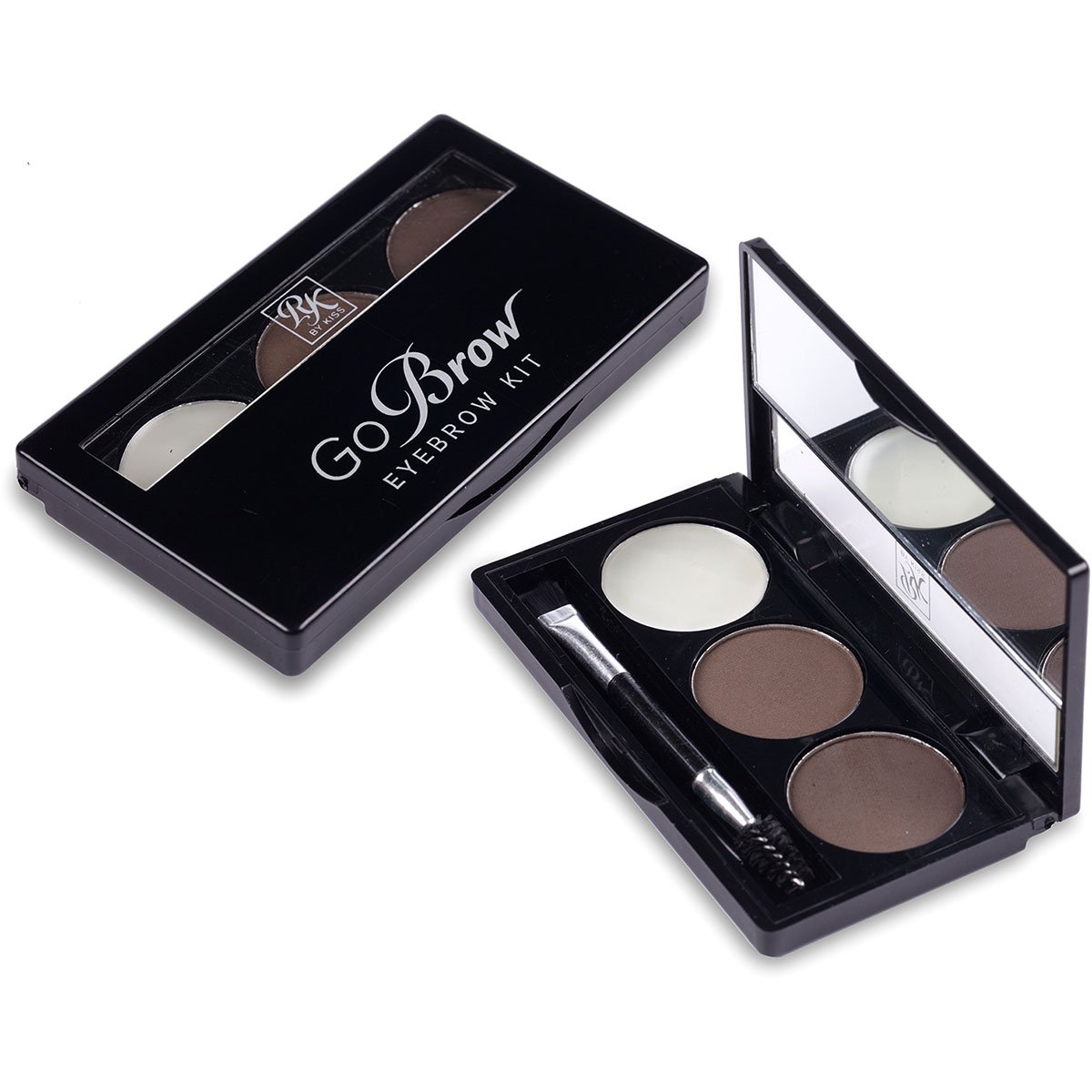 RK By Kiss Kit de Sobrancelha cor Black Dark Brown