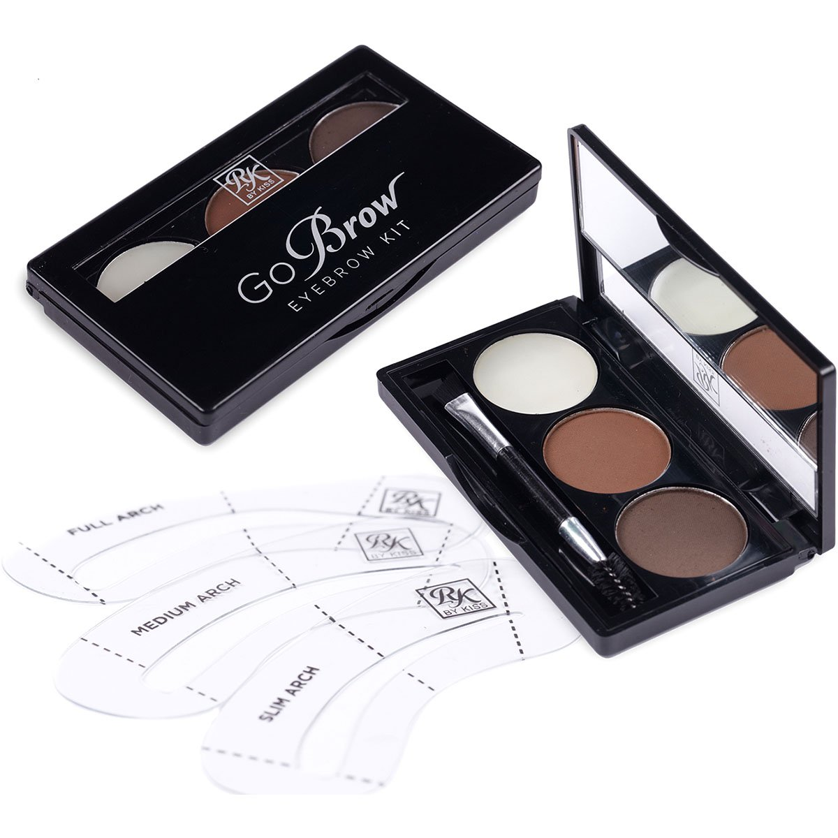 RK By Kiss Kit de Sobrancelha cor Chocolate Brown