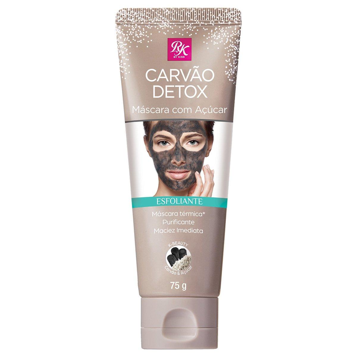 Máscara Esfoliante Facial Carvão Detox c/ Açúcar RK By Kiss