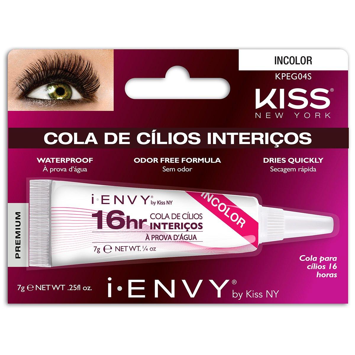 Cola para Cílios Postiços i-ENVY by Kiss NY 16 horas