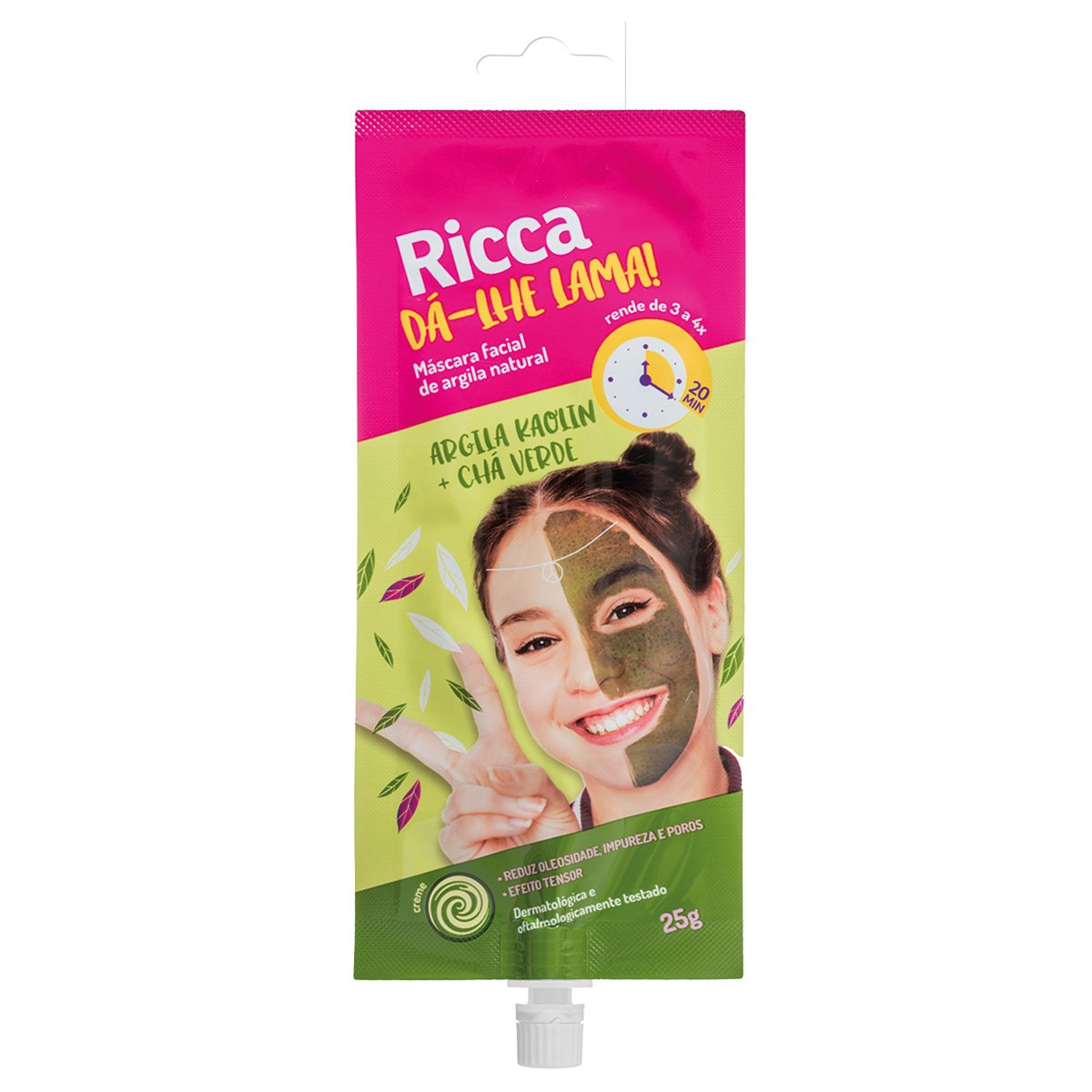 Máscara Facial de Argila Natural Ricca