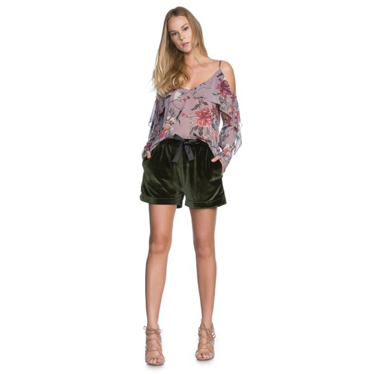 89ce4a2b22 Shorts Amaro Curto De Veludo - Verde