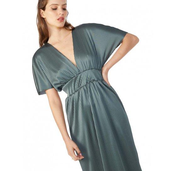 6a3719584 Vestido Amaro Longo Jersey Plissado - Verde | Zattini