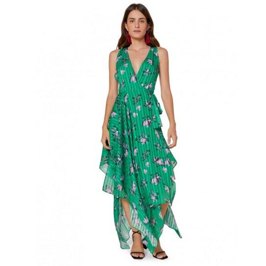 720c3a85e2 Vestido Amaro Leve Decote V Regata - Verde