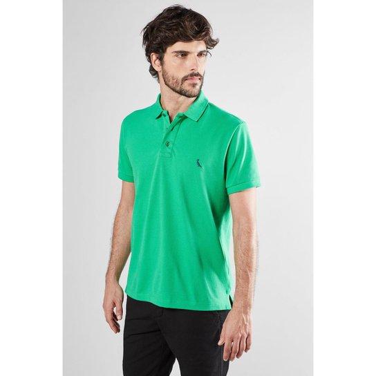 Polo Cont. Basica Piquet Reserva Masculina - Verde - Compre Agora ... f9c3d00b4ef05